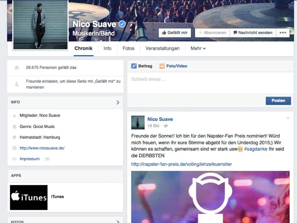 Nico Suave zum Napster Fan-Preis